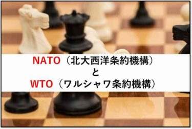【超わかりやすい】冷戦中に結成されたNATOとWTOを解説‼