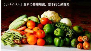 サバイバル 栄養 食料